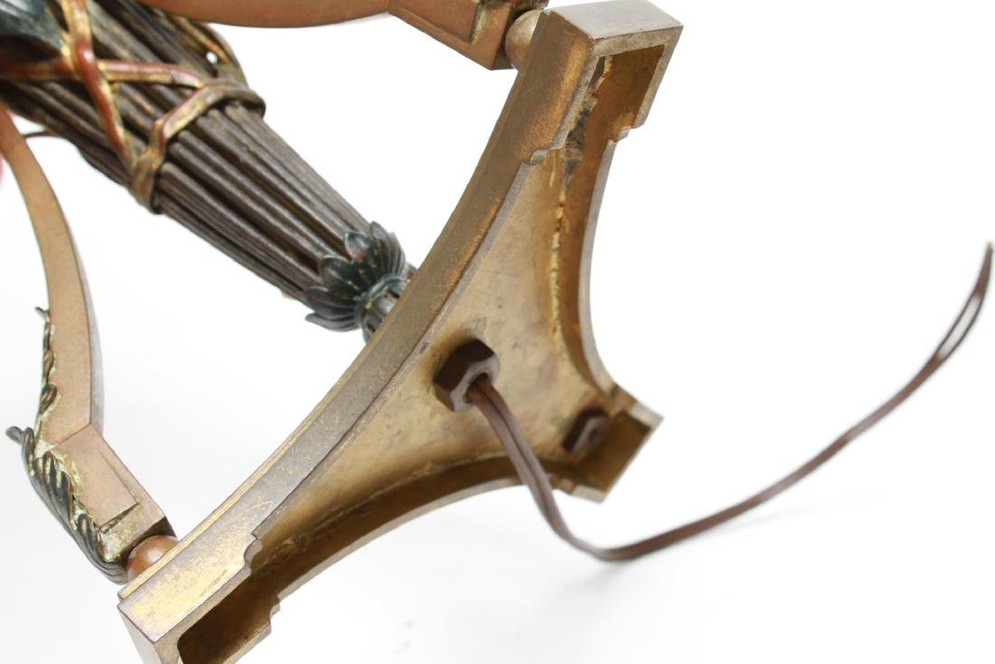 Capodimonte & Brass Candelabra Lamps, Pair - 8