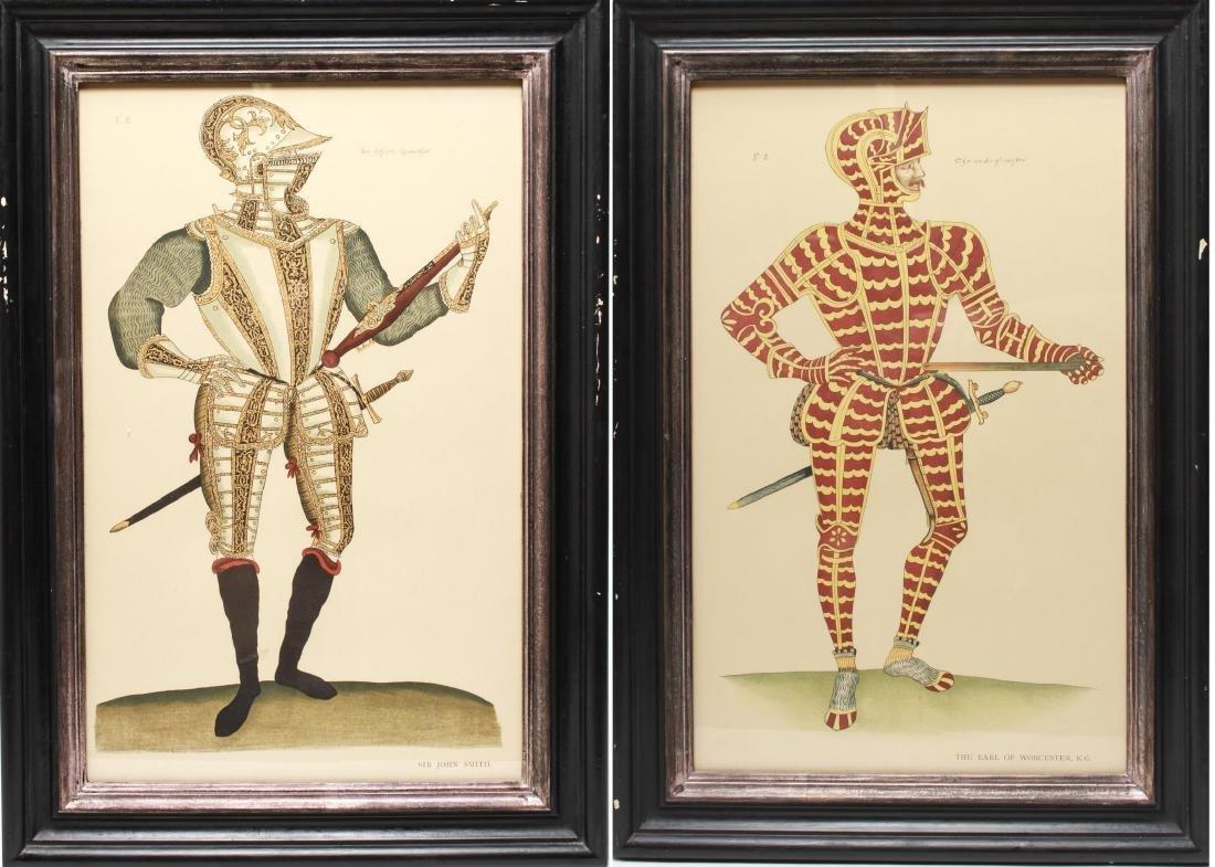 Tudor Military Suits of Armor Prints, 1905 - Pair