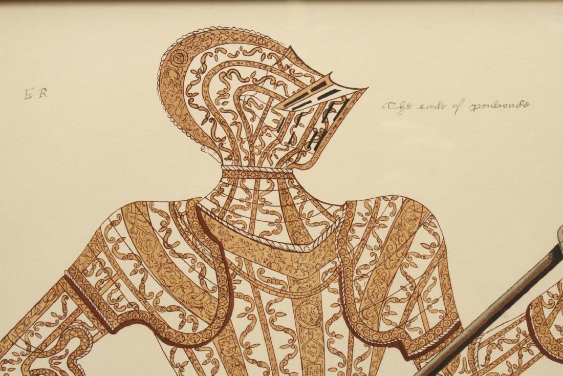 Tudor Military Suits of Armor Prints, 1905 - Pair - 7