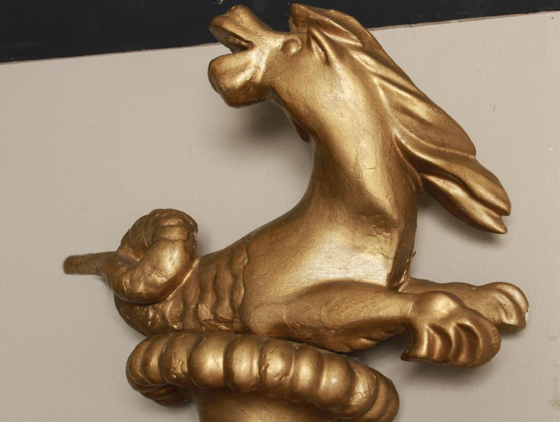Irish Regency Giltwood Mirror, Hippocanthus,19th C - 3