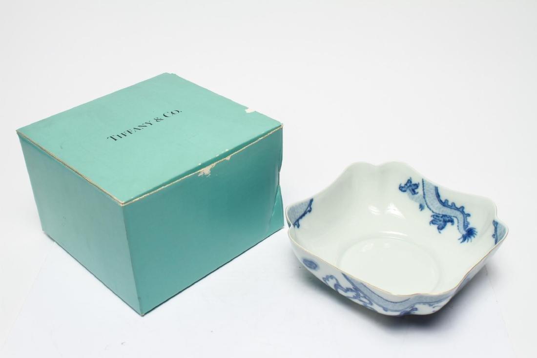 Tiffany & Co Mottahedeh Blue Dragon Porcelain Bowl