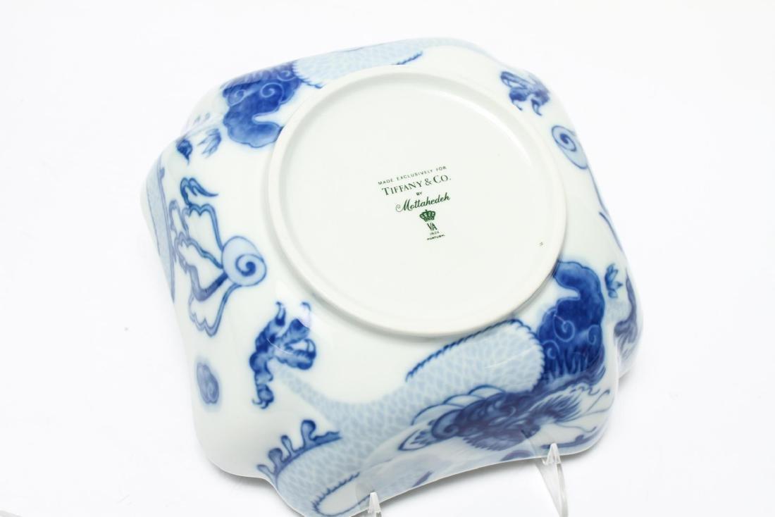 Tiffany & Co Mottahedeh Blue Dragon Porcelain Bowl - 6