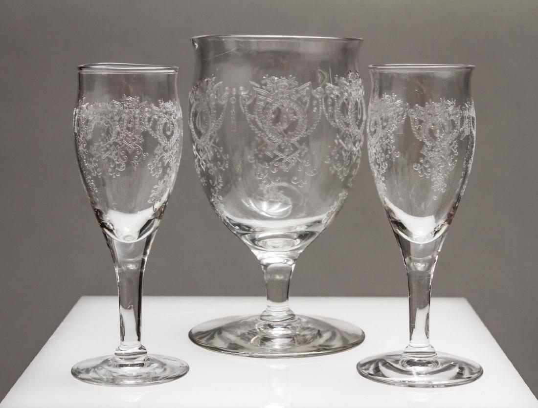 Etched Bar Glasses, Vintage, 61 Pieces - 2