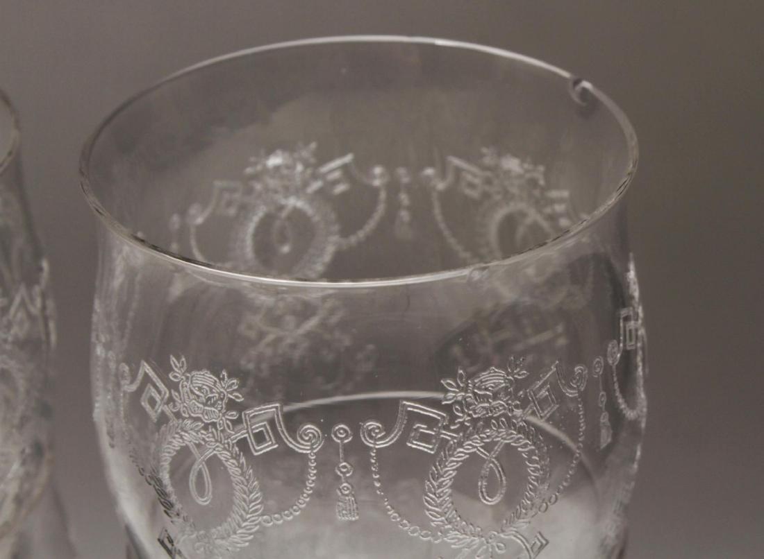 Etched Bar Glasses, Vintage, 61 Pieces - 4