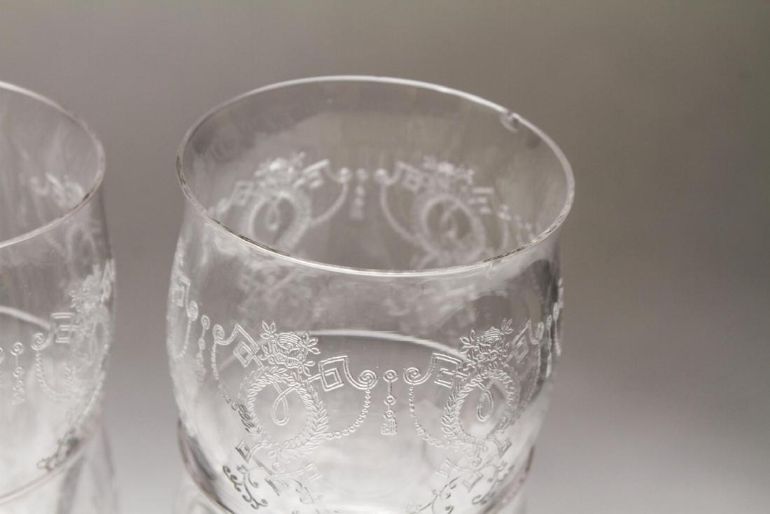 Etched Bar Glasses, Vintage, 61 Pieces - 5