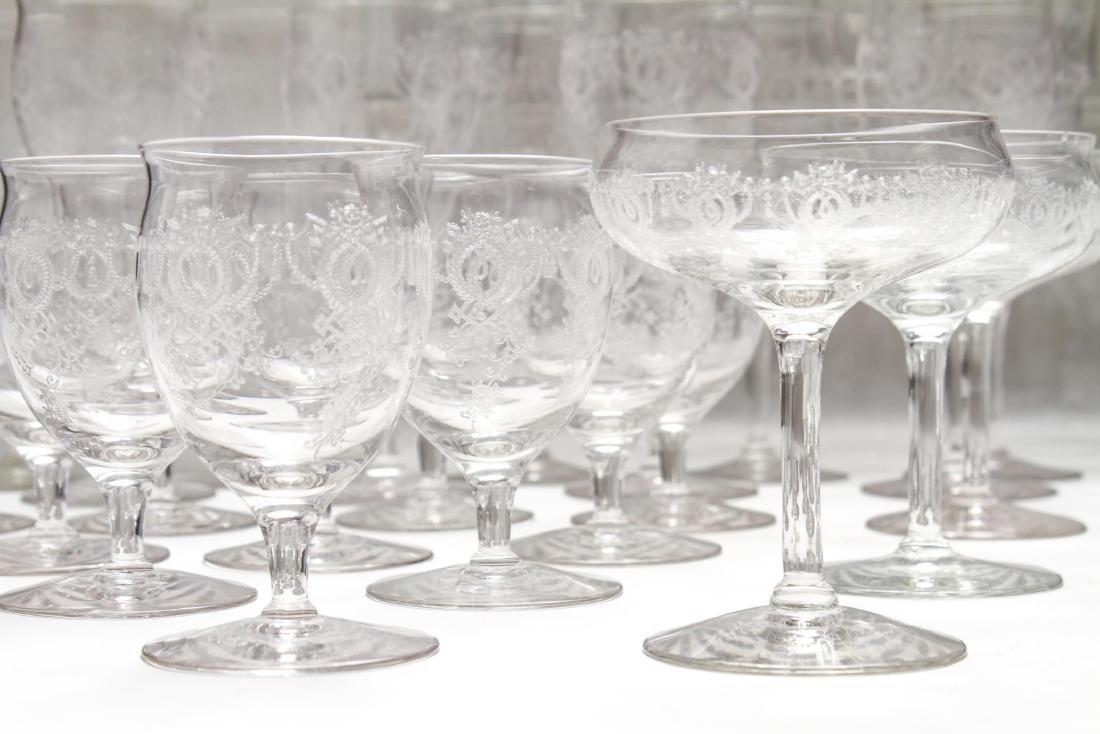 Etched Bar Glasses, Vintage, 61 Pieces - 6