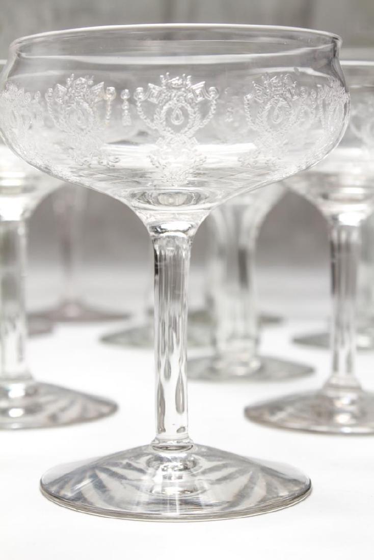 Etched Bar Glasses, Vintage, 61 Pieces - 7