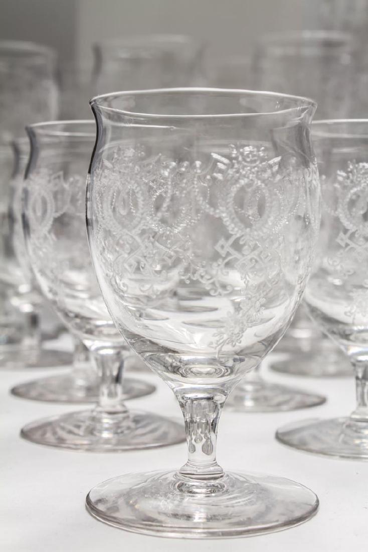 Etched Bar Glasses, Vintage, 61 Pieces - 8