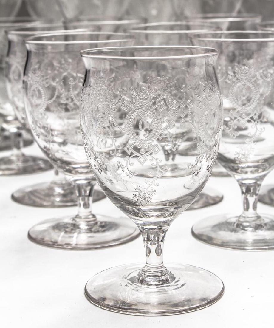 Etched Bar Glasses, Vintage, 61 Pieces - 9