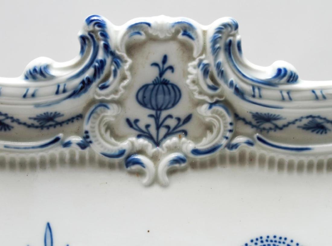 Meissen Porcelain Blue Onion Square Serving Tray - 7