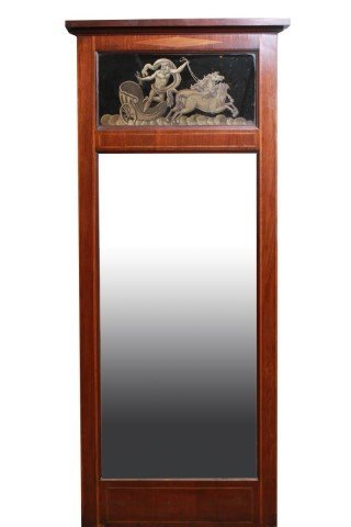 Antique Swedish Trumeau Wall Mirror