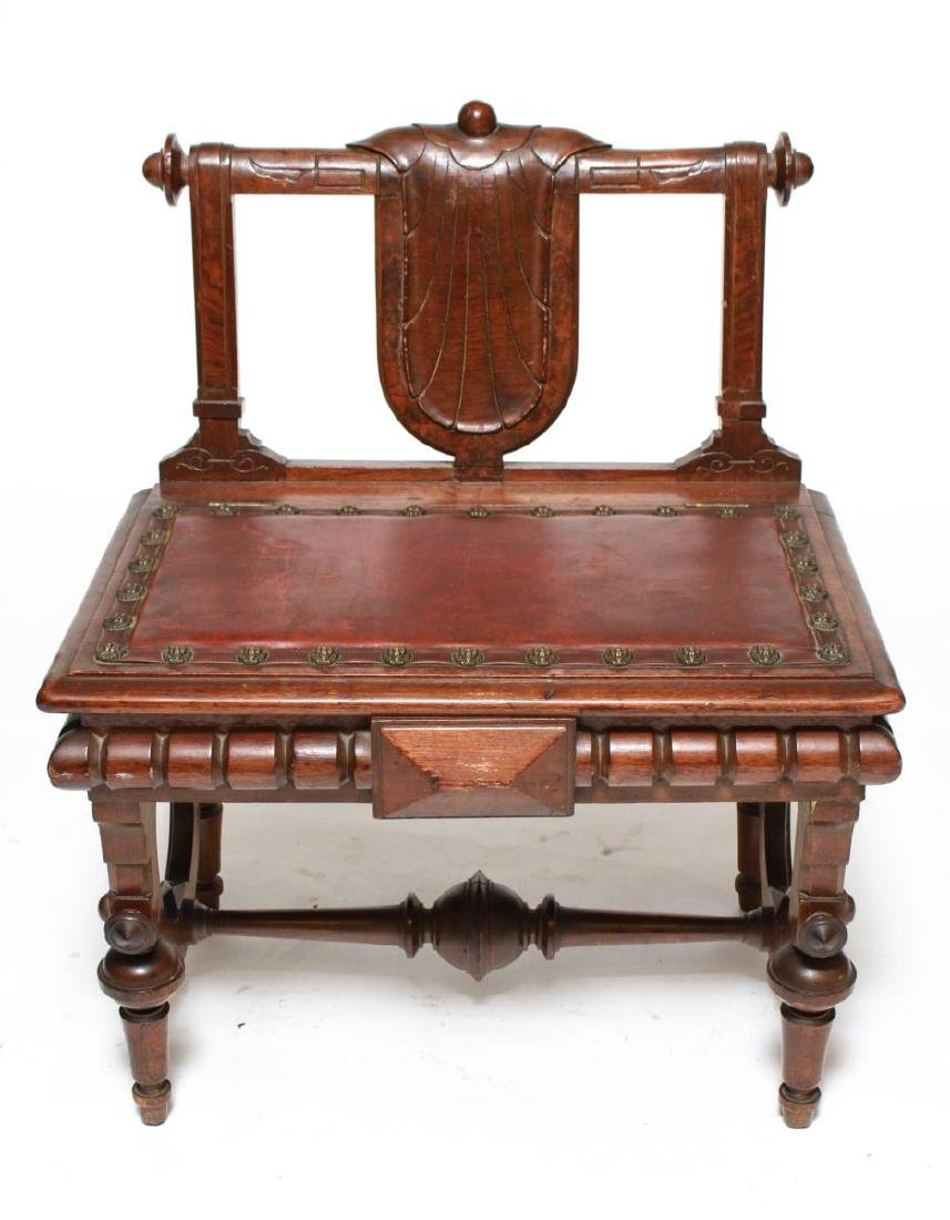 American Aesthetic Movement Walnut Emperor's Chair
