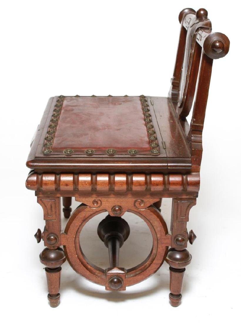 American Aesthetic Movement Walnut Emperor's Chair - 4
