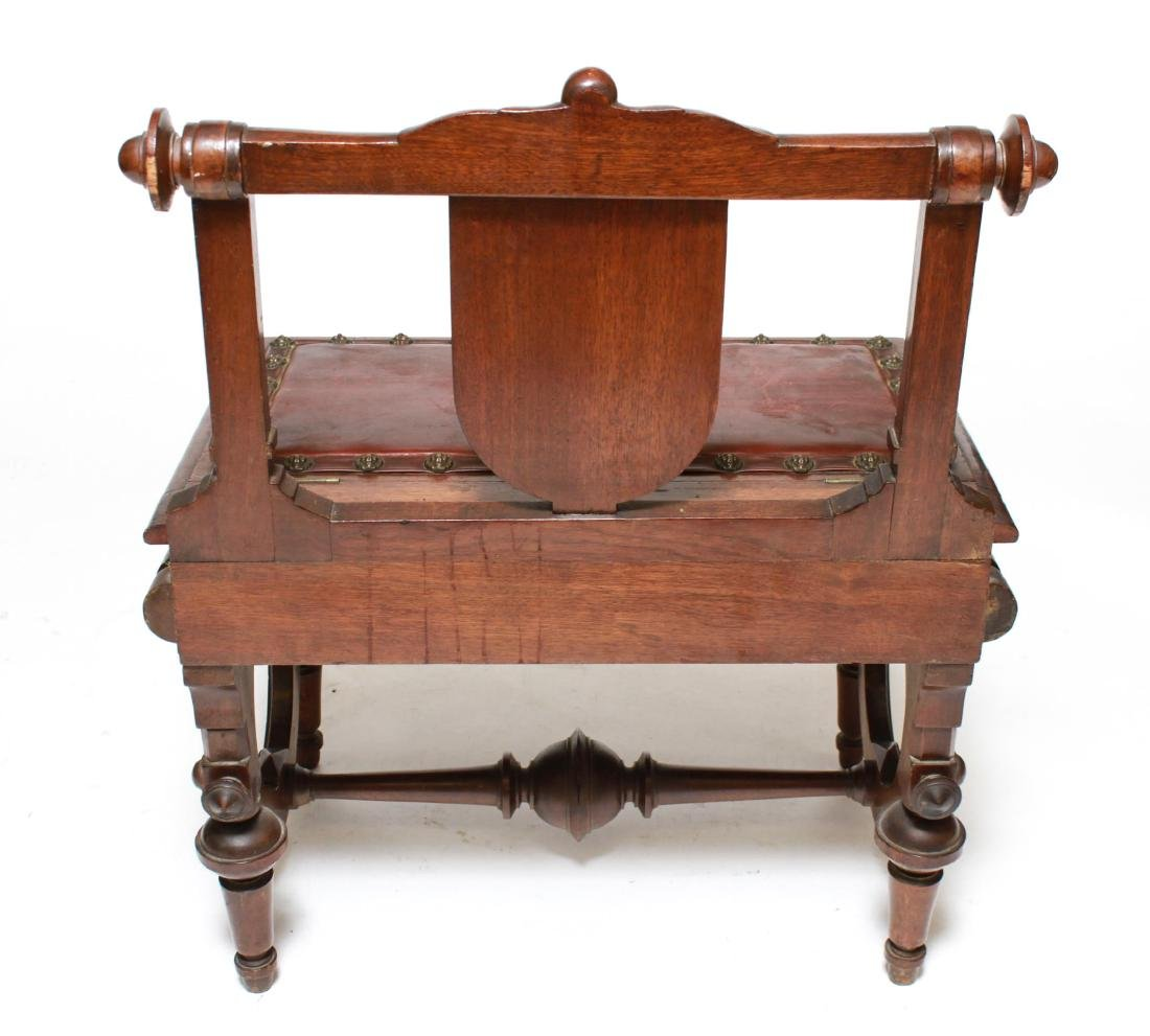 American Aesthetic Movement Walnut Emperor's Chair - 5