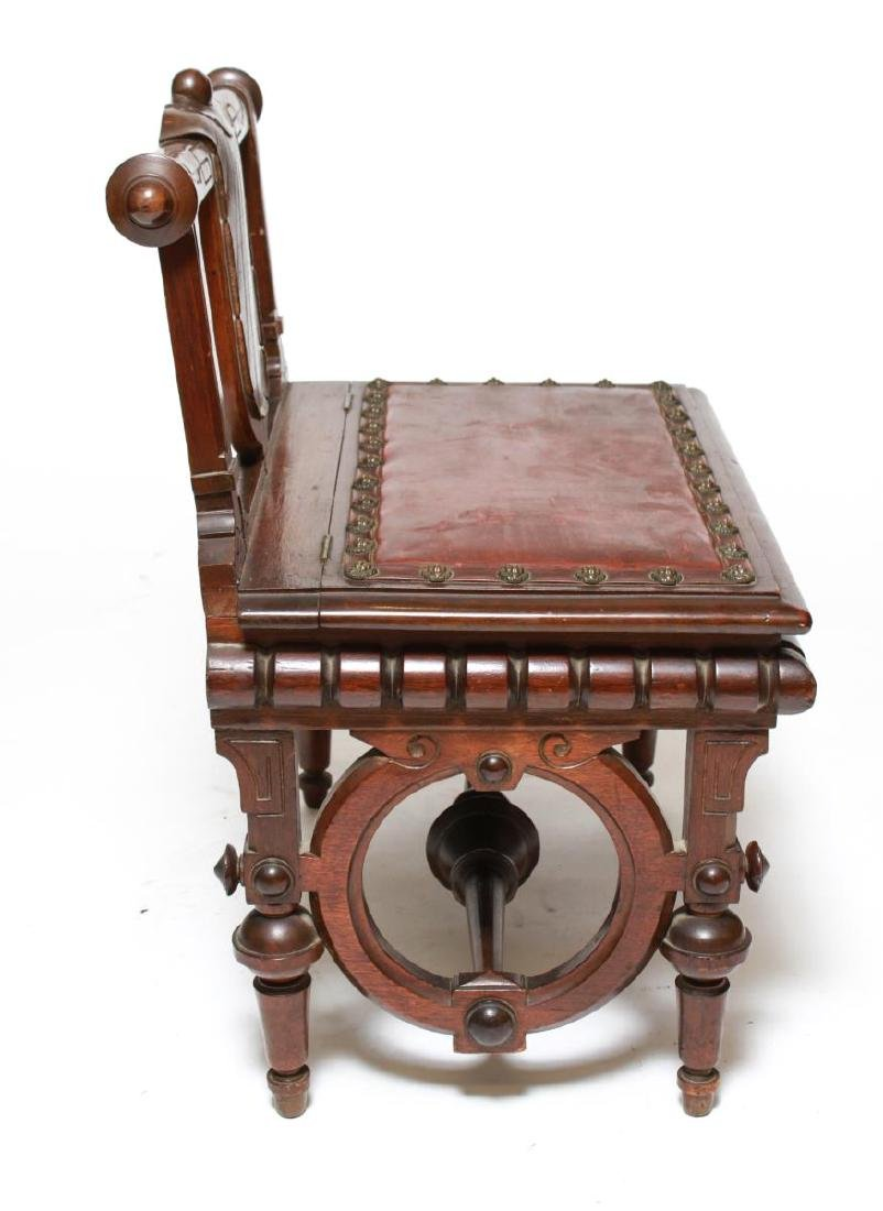 American Aesthetic Movement Walnut Emperor's Chair - 6