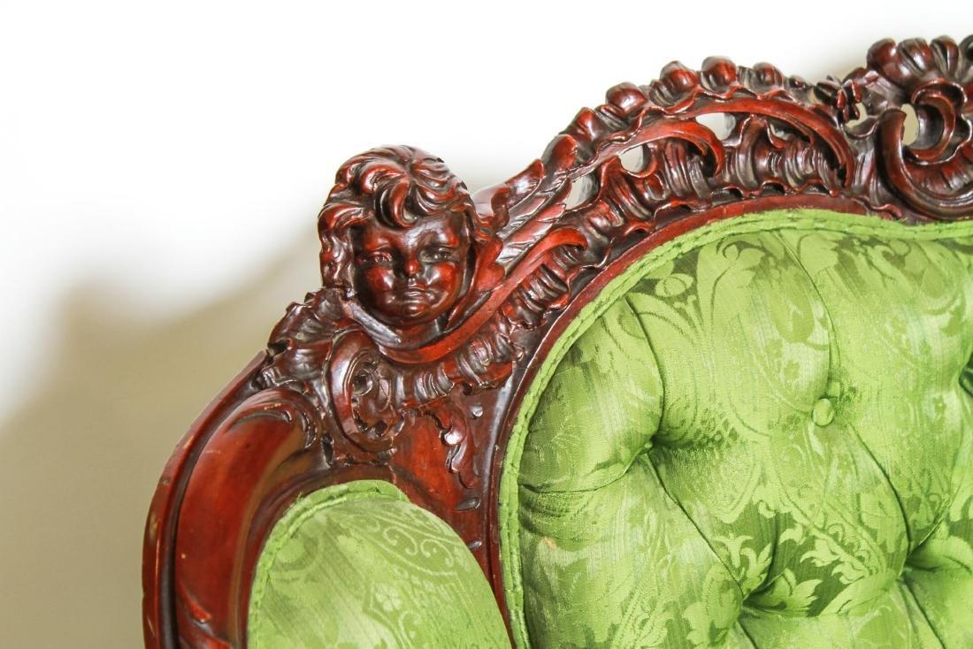 RJ Horner / Karpen Victorian Mahogany Parlor Sofa - 10