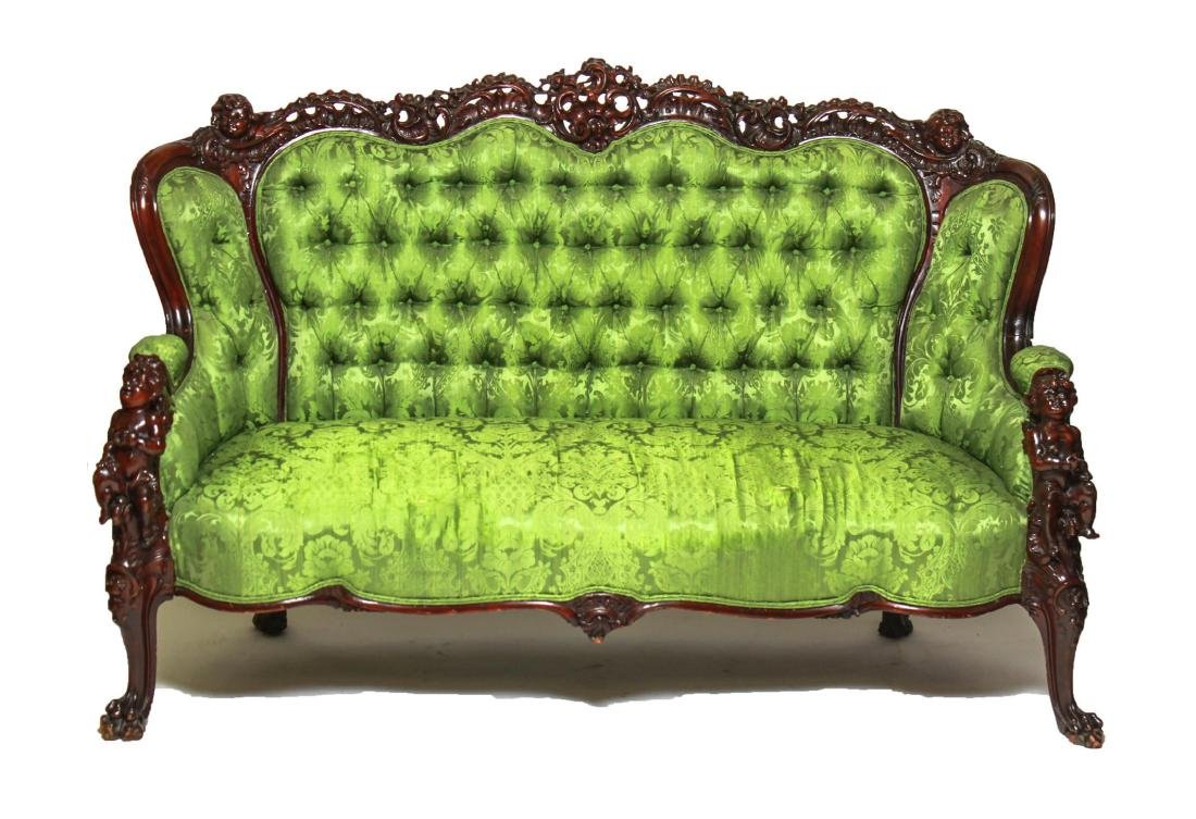 RJ Horner / Karpen Victorian Mahogany Parlor Sofa