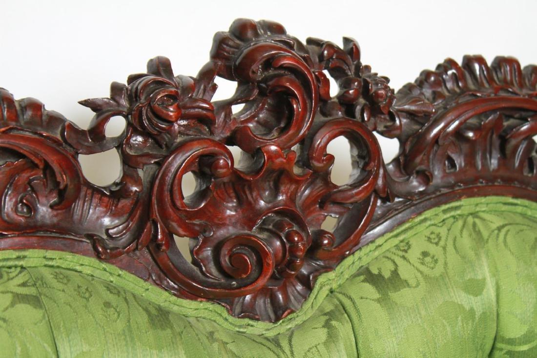RJ Horner / Karpen Victorian Mahogany Parlor Sofa - 2