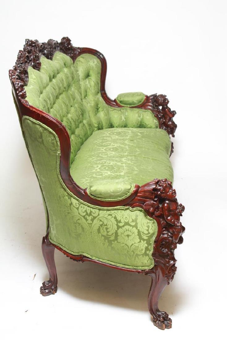 RJ Horner / Karpen Victorian Mahogany Parlor Sofa - 3