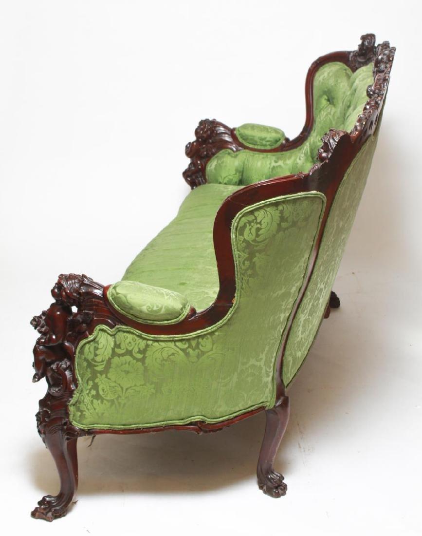 RJ Horner / Karpen Victorian Mahogany Parlor Sofa - 8