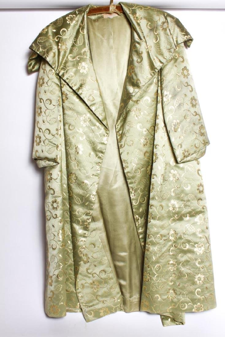 Dynasty Hong Kong Gilt Embroidered Silk Swing Coat