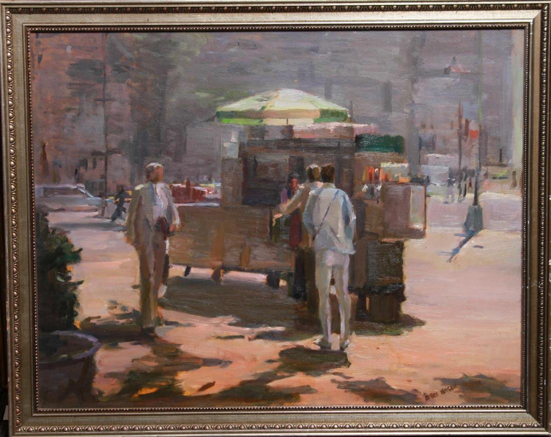 Renee Berger NYC Street Scene Oil on Canvas