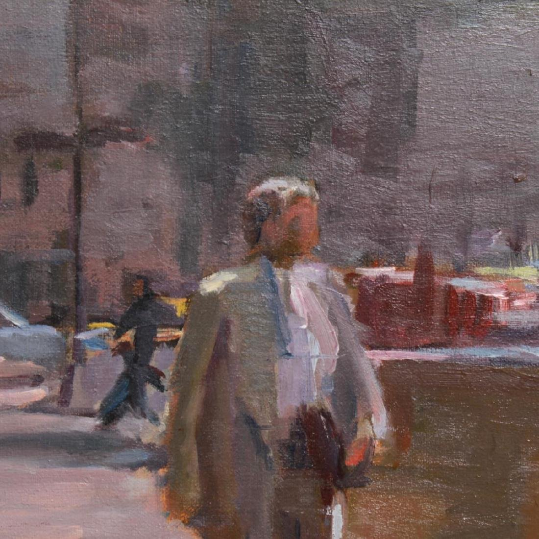 Renee Berger NYC Street Scene Oil on Canvas - 3