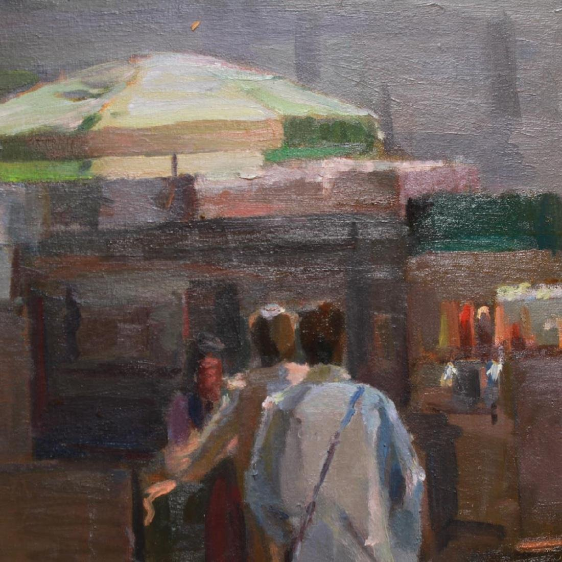 Renee Berger NYC Street Scene Oil on Canvas - 4