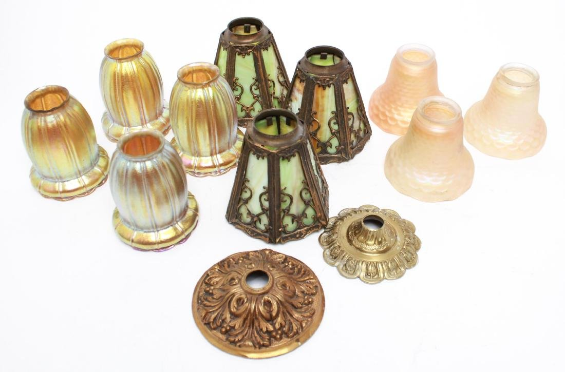 Glass Shades for Hanging Light Fixtures, 12 pcs