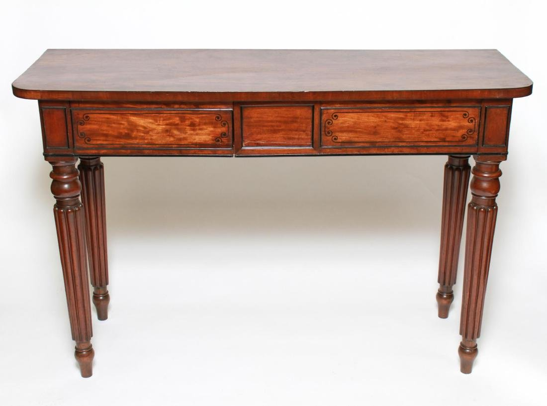 English Regency -Manner Wood Console Table
