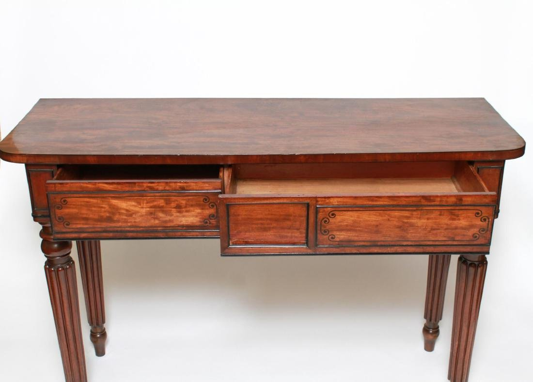 English Regency -Manner Wood Console Table - 4