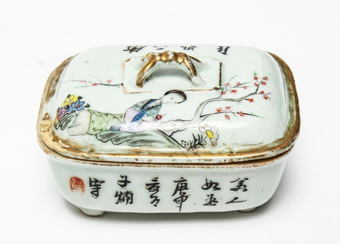 Chinese Qing Porcelain Ink & Other Boxes, 4 - 2