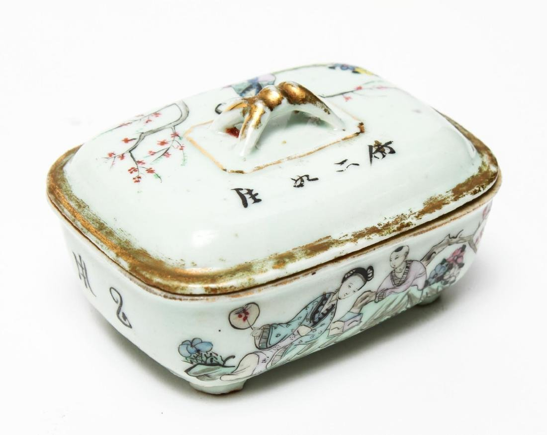 Chinese Qing Porcelain Ink & Other Boxes, 4 - 3