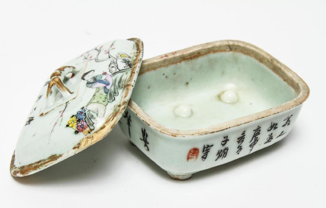 Chinese Qing Porcelain Ink & Other Boxes, 4 - 4