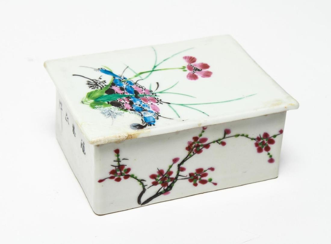 Chinese Qing Porcelain Ink & Other Boxes, 4 - 7