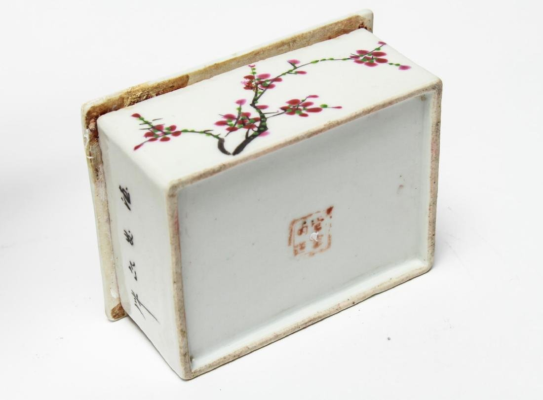 Chinese Qing Porcelain Ink & Other Boxes, 4 - 8