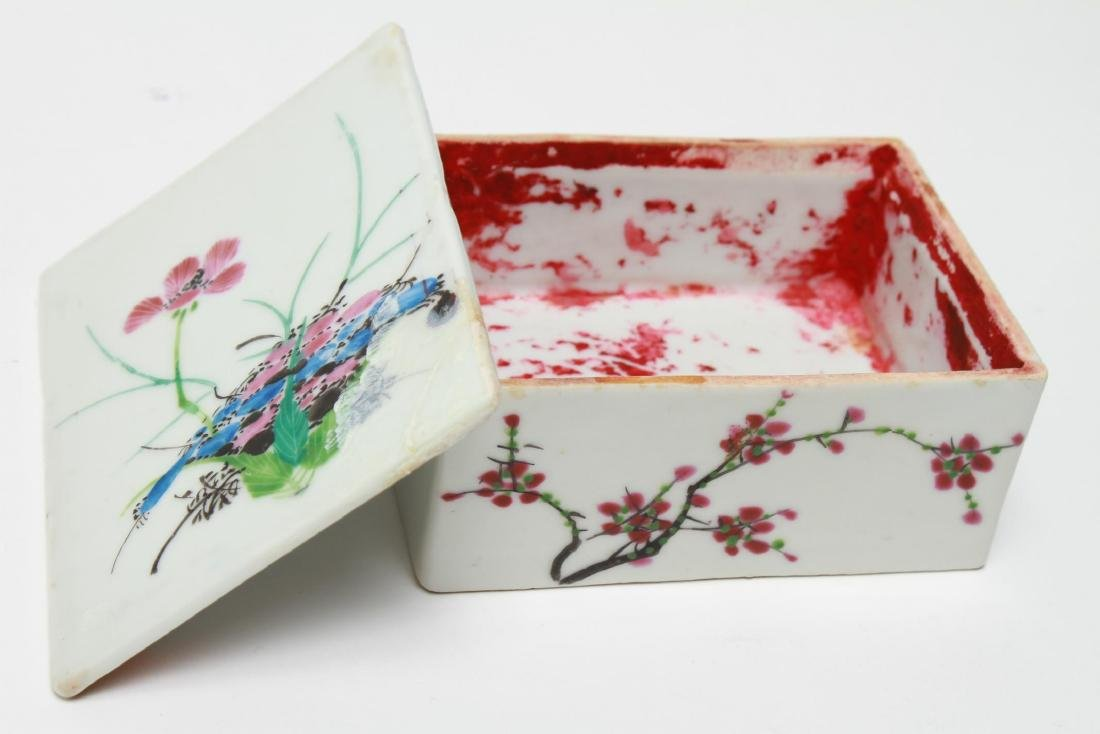 Chinese Qing Porcelain Ink & Other Boxes, 4 - 9