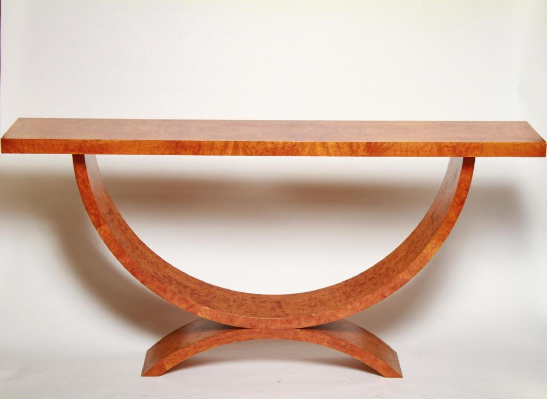 Art Deco Wood Console Table, 1930s