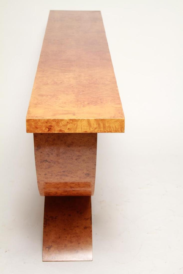 Art Deco Wood Console Table, 1930s - 3