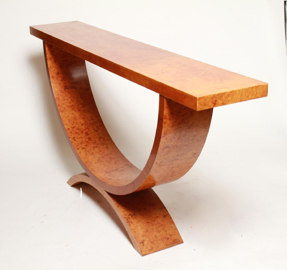 Art Deco Wood Console Table, 1930s - 4