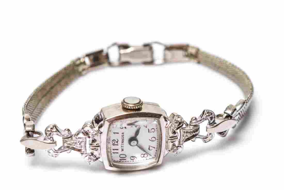 Art Deco 14K Gold & Diamond Wittnauer Lady's Watch