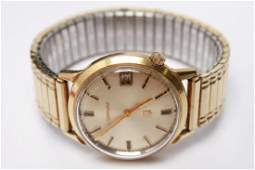 Bulova 14K Yellow Gold Accutron Date Quartz Watch