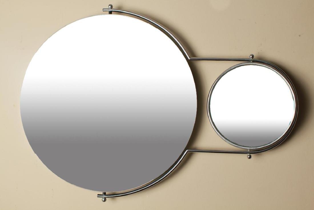 Mid Century Modern Bieffeplast Specchio Due Mirror