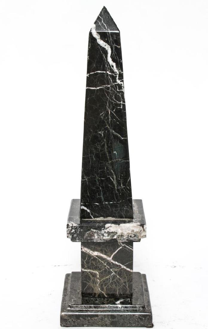 Agate & Marble Tabletop Obelisks, Group of 2 - 3