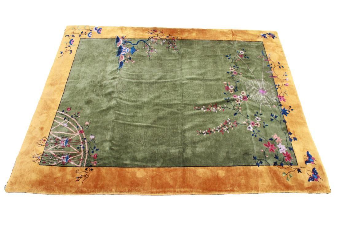 "Nichols Art Deco Chinese Carpet 9' 1"" x 11' 5.25"""