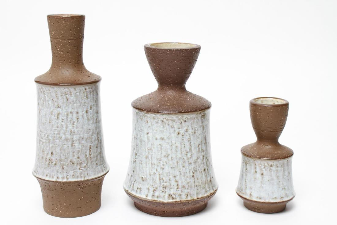 Mid-Century Michal Andersen Ceramic Vases Set of 3