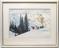 Churchill Ettinger Stratton Mountain Watercolor