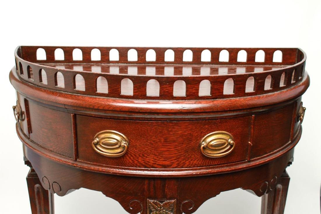 19th Century Demilune Console Tables, Pair - 10