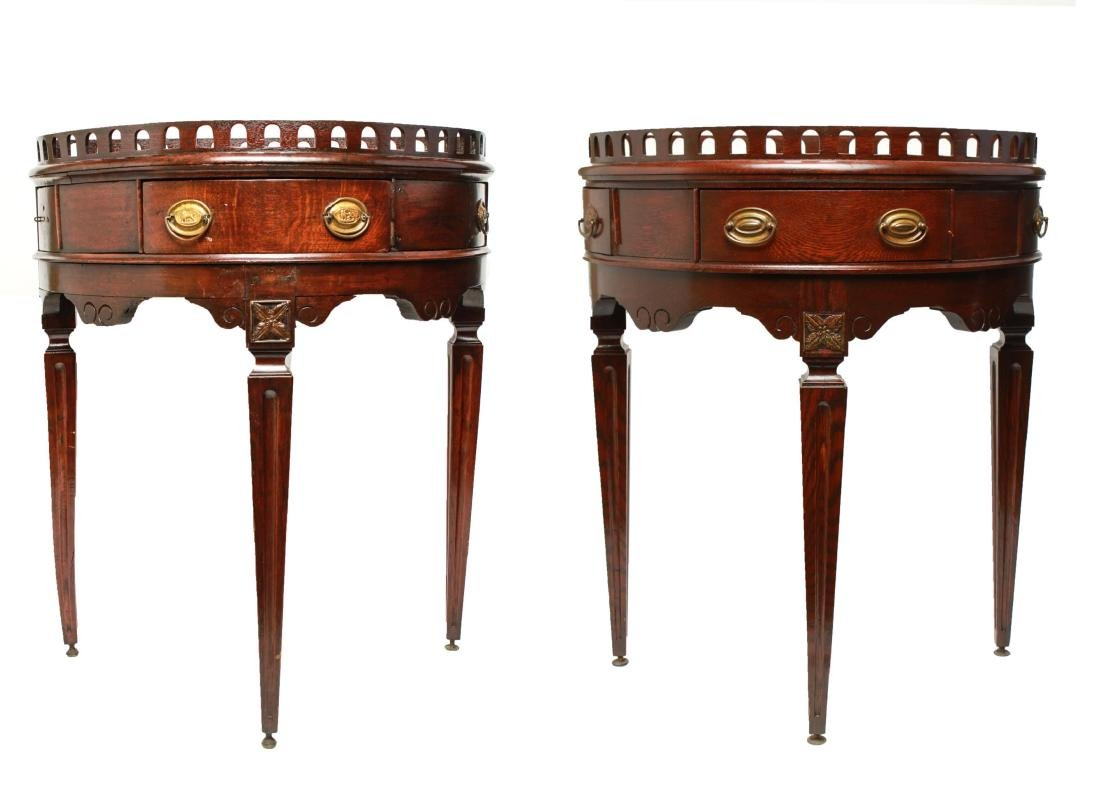 19th Century Demilune Console Tables, Pair