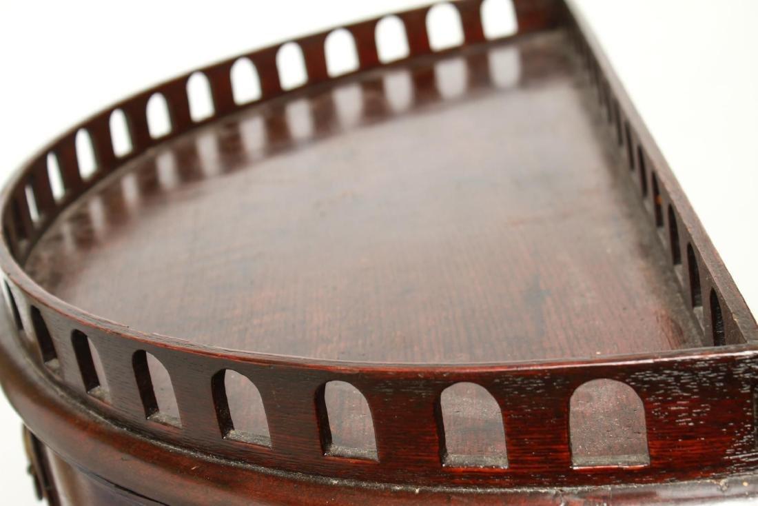 19th Century Demilune Console Tables, Pair - 2